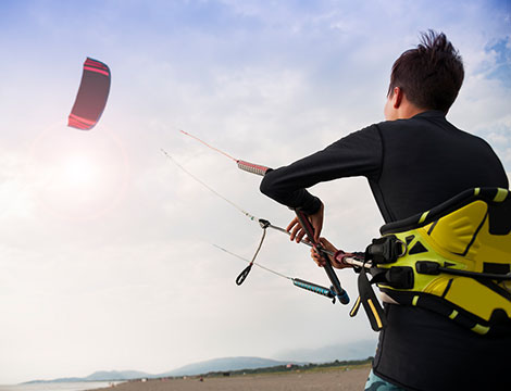 Corso A TERRA di kitesurf