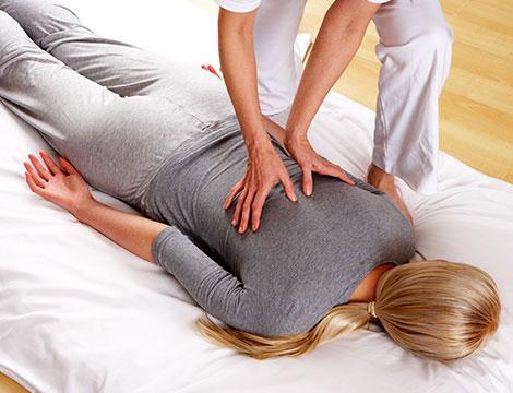 Seduta di massaggio Shiatsu