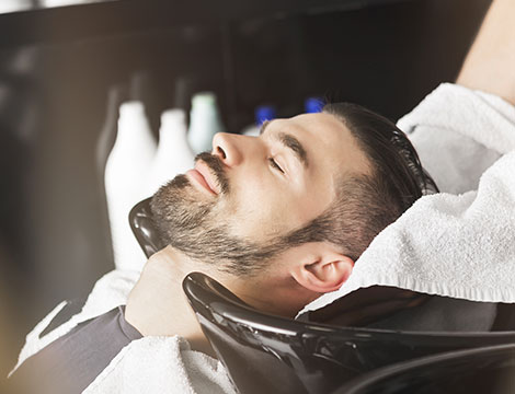 Seduta hairstyle uomo