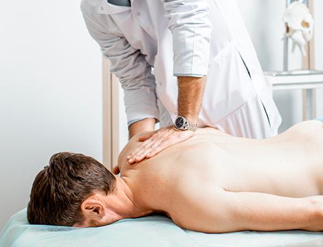 Una seduta osteopatica