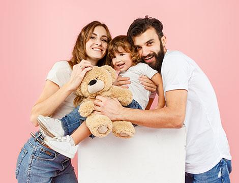 Servizio fotografico mamma e papà
