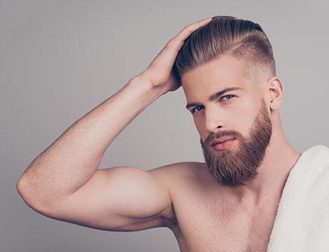 Shampoo e taglio uomo in centro