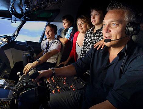 Un ora di simulazione di volo MD 80