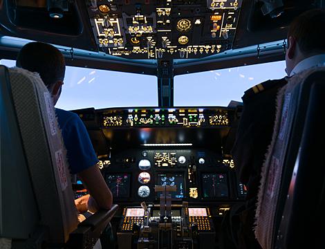 Simulazione pilotaggio Boeing 737