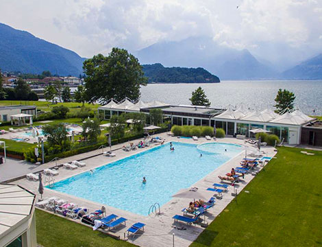 Spa di coppia con vista sul Lago di Como