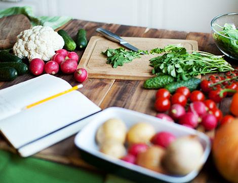 Spesa e preparazione di 3 ricette salutari
