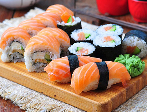 Sushi box o party in Ticinese