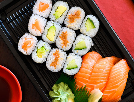 Sushi box take away 60 pezzi
