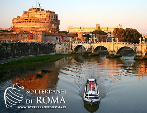 our di Roma e aperitivo in barca sul Tevere_N