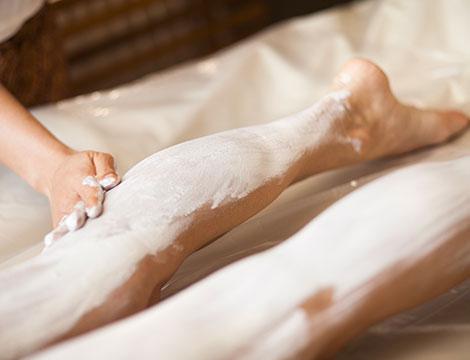Trattamento gambe con fanghi