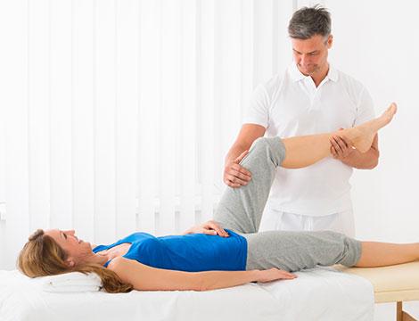 Una seduta di trattamento osteopatico