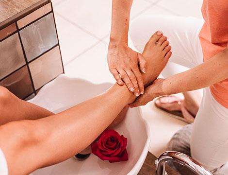 Trattamento piedi callus peeling