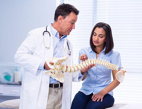 Una visita osteopatica e trattamento