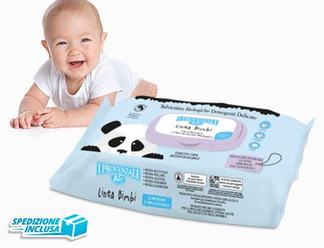 Image of 12 pack salviette detergenti bimbo biologiche