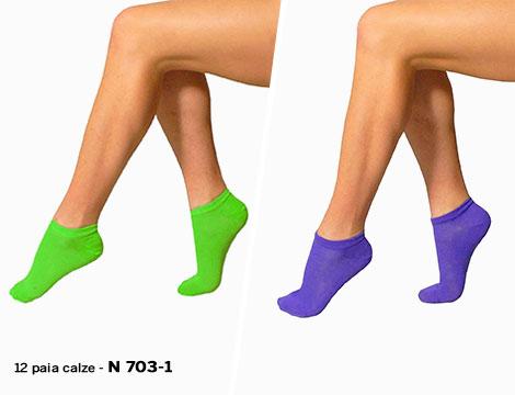 12 paia calze collo basso donna