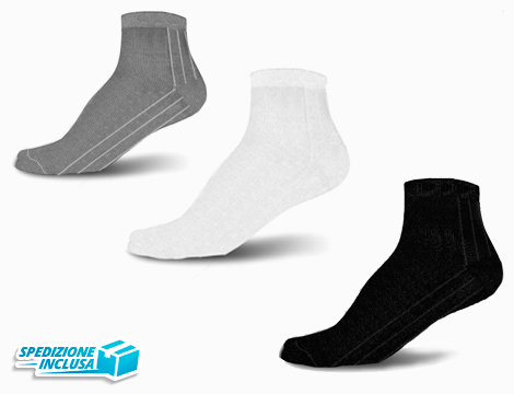 12 paia di calzini corti uomo o donna