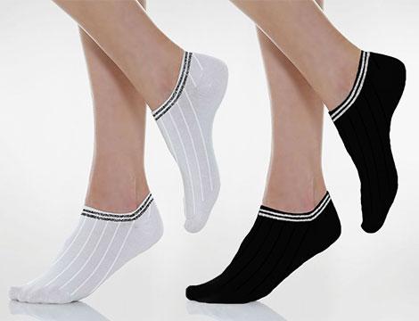Image of 12 paia di calzini doppia fascia glitter
