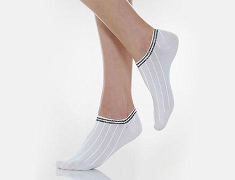 12 paia di calzini doppia fascia glitter_N