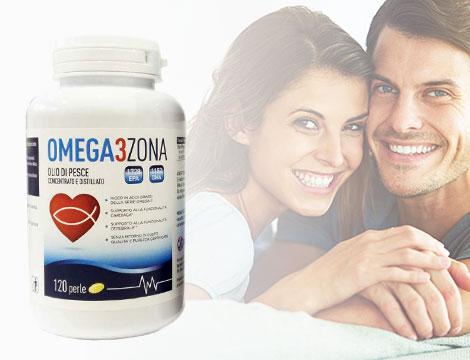 120 perle di Omega 3 zona da 1600 mg