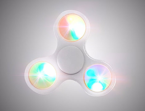 2 FIDGET SPINNER con led_N