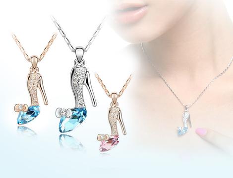 2 collane con cristalli swarovski elements