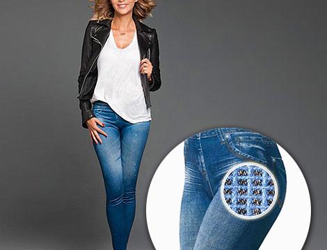 Leggings jeans snellenti blu_N