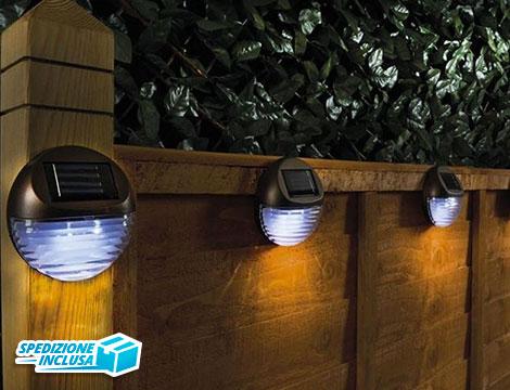 2 lampade solari da muro