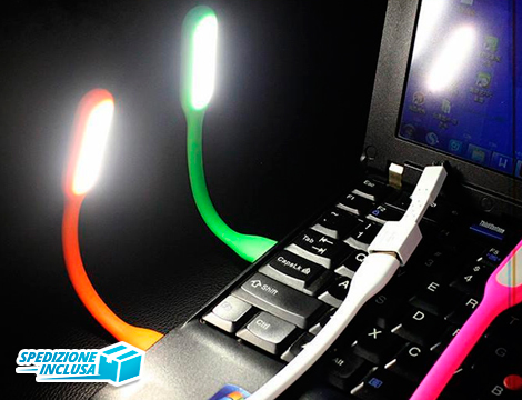 offerta shopping 2 luci led usb groupalia