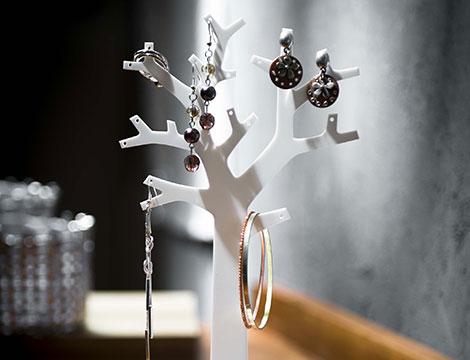 2 organizer bijoux ad albero bianchi