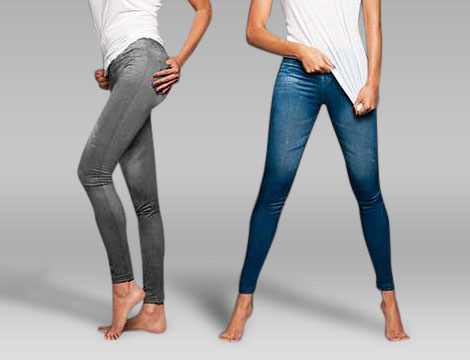 2 paia leggings jeans snellenti_N