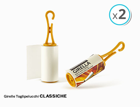 2 girelle toglipelucchi adesive classiche o profumate