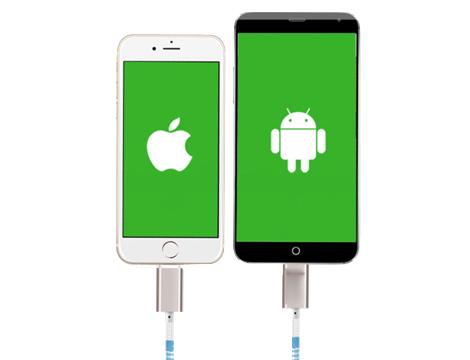cavo usb micro 2 in 1 a Cerniera x Android ed Apple