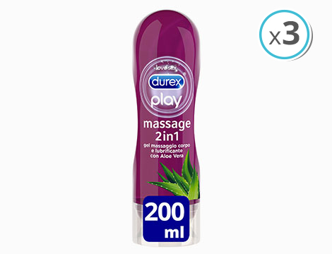 gel lubrificanti Play Massage 2in1 Aloe Durex