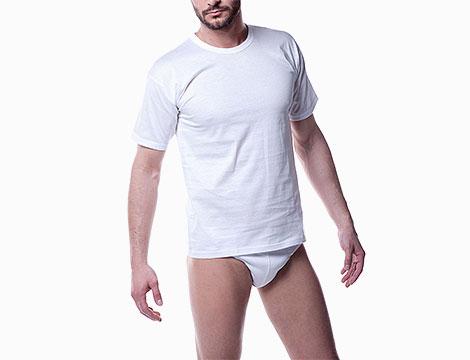 magliette intime basic da uomo