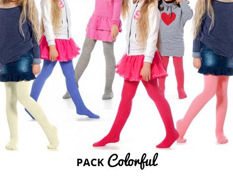 Pack 3 o 6 Collant Colorati_N