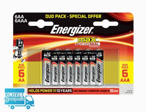 4 pack pile Energizer Max 6+6
