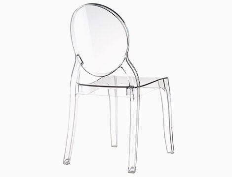 4 sedie in policarbonato trasparente a 279 90 groupalia for Sedie in policarbonato trasparente