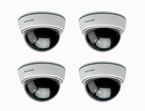 Set 4 telecamere dissuasive con led_N