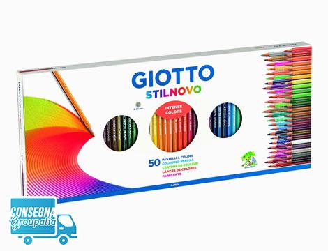 50 pastelli Giotto Stilnovo e temperamatite