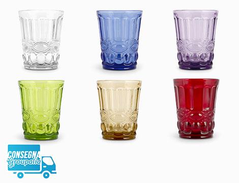 6 bicchieri in vetro H&H Saint Tropez