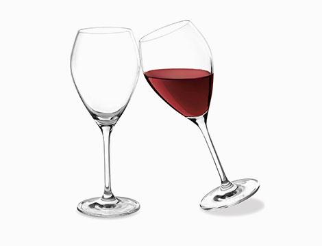 6 calici da vino in vetro HH Drop