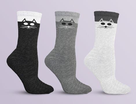 paia calze donna gattini