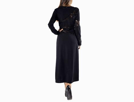 Vestito nero lungo Sexy Woman
