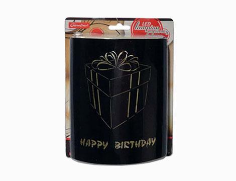 Accessori foto e 2 lanterne LED Happy Birthday