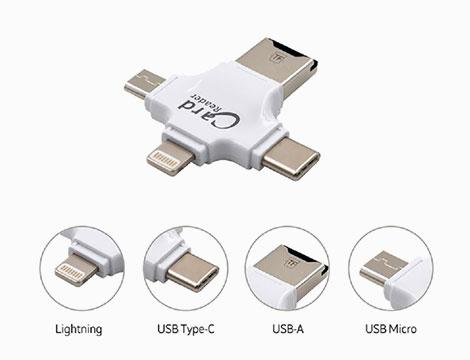 Adattatore micro SD 4 in 1