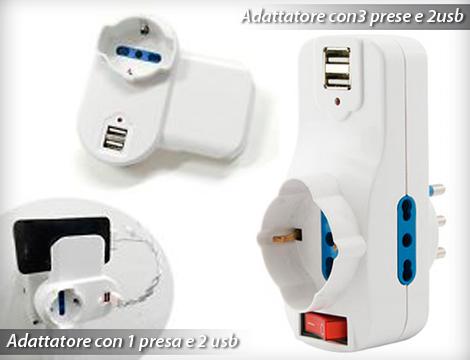 Adattatore multipresa con USB