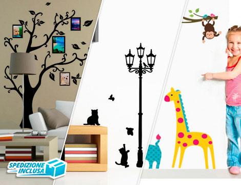 offerta shopping adesivi decorativi da parete groupalia