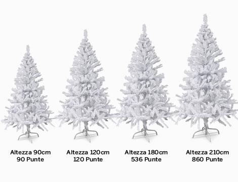 Albero di Natale bianco varie dimensioni