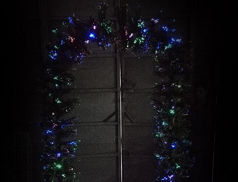 Arco natalizio a fibre ottiche