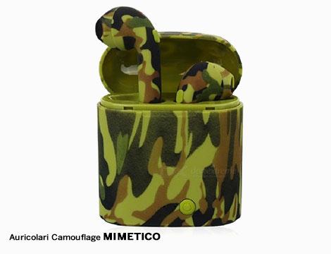 Auricolari BT wireless camouflage